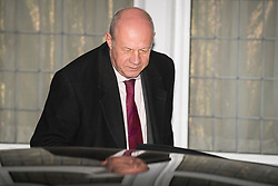 "© Licensed to London News Pictures. 06/12/2017. London, UK. First Secretary of State DAMIAN GREEN seen leaving his London home on December 6, 2017. The findings of an inquiry in to the conduct of MP Damian Green are due to be released, following allegations that ""extreme"" pornography was found on his computer during a police raid in 2018. Green was already under investigation for allegedly propositioning former Tory activist, Kate Maltby. Photo credit: Ben Cawthra/LNP"