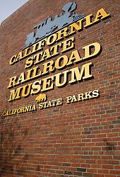 Exterior of the California State Railroad Museum, Sacramento, California, United States of America.