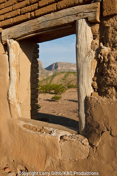 historic adobe dwelling near the Rio Grande in Big Bend National Park, Texas, USA