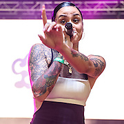 COLUMBIA, MD - August 30th, 2015 - Kehlani performs at the 2015 Trillectro Festival at Merriweather Post Pavilion in Columbia, MD (Photo by Kyle Gustafson / For The Washington Post)