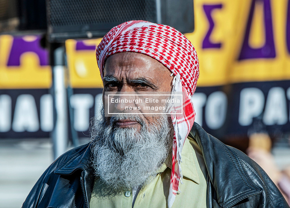The father of murdered Pakistani Shehzad Luqman, attends the apology of Golden Dawn leader Nikos Michaloliakos, Court of Appeal, Golden Dawn trial, Athens, Greece on November 6, 2019.<br /> <br /> Pictured: <br /> Dimitris Lampropoulos  | EEm date