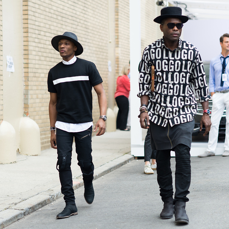 Two Looks in Black and White, NYFWM Day 2