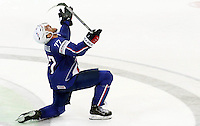 Joie Sacha Treille - 12.05.2015 - Lettonie / France - Championnats du Monde Hockey sur Glace -Prague<br /> Photo : Xavier Laine / Icon Sport