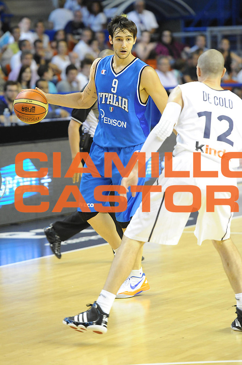 DESCRIZIONE : Francia Pau Torneo Nazionale Italiana Maschile Sperimentale Francia<br />  GIOCATORE : Moraschini Riccardo<br />  CATEGORIA : palleggio<br />  SQUADRA : Italia Nazionale Maschile Sperimentale<br />  EVENTO : Torneo Nazionale Italiana Maschile Sperimentale Francia<br /> GARA : Italia Sperimentale Francia<br /> DATA : 27/06/2012 <br />  SPORT : Pallacanestro<br />  AUTORE : Agenzia Ciamillo-Castoria/GiulioCiamillo<br />  Galleria : FIP Nazionali 2012<br />  Fotonotizia : Francia Pau Torneo Nazionale Italiana Maschile Sperimentale Francia<br />  Predefinita :