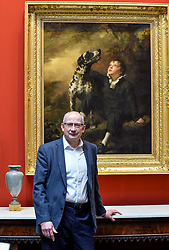 Pictured: Director-General of the National Galleries of Scotland Sir John Leighton with one of the newly acquired Raeburn paintings.<br /> <br /> The National Galleries of Scotland have announced the acquisition of two important paintings by famous Scottish artist Sir Henry Raeburn, as part of the Acceptance in Lieu Scheme run by HM Revenue & Customs.<br /> <br /> © Dave Johnston / EEm