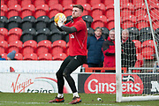Doncaster Rovers Goalkeeper Ian Lawlor (1) warming up the EFL Sky Bet League 1 match between Doncaster Rovers and Bristol Rovers at the Keepmoat Stadium, Doncaster, England on 27 January 2018. Photo by Craig Zadoroznyj.