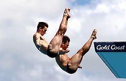 England's Daniel Goodfellow (left) and Tom Daley (right) compete in the Men's Synchronised 10m Platform Final at the Optus Aquatic Centre during day nine of the 2018 Commonwealth Games in the Gold Coast, Australia.