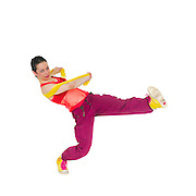Female Hip hop Dancer On white Background