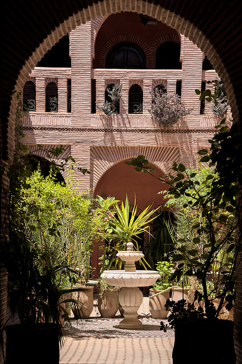 North Africa; Africa; African; Morocco; Moroccan; Marrakesh, courtyard