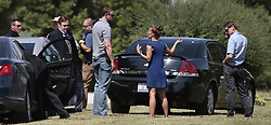 June 14, 2017 - St. Louis, Missouri, U.S. - FBI officers speak to a neighbors of James Hodgkinson on Rolling Hills Lane on Wednesday. Hodgkinson is the suspect in the shooting of a congressman and police officers during practice for a congressional baseball game in Virginia. (Credit Image: © Robert Cohen/TNS via ZUMA Wire)