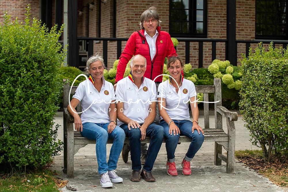 Team Endurance Belgium <br /> Boven : Chef d'equipe, Arnould Pierre<br /> Onder : Cuvelier Anne, Van Gestel Bruno, Hardy Elisabeth<br /> Team Belgium Endurance 2019<br /> © Hippo Foto - Dirk Caremans<br /> 06/08/2019