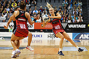 Tactix wing defense Hayley Saunders during the ANZ Premiership netball match - Magic v 170529 ANZ Premiership - Magic v Tactix played at Claudelands Arena, Hamilton, New Zealand on Monday 29 May 2017. Copyright photo: Bruce Lim / www.photosport.nz