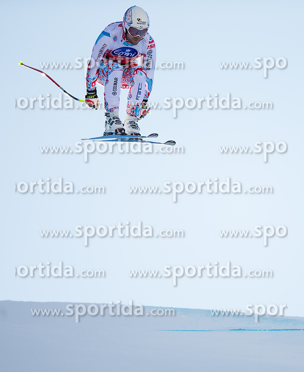 28.12.2013, Stelvio, Bormio, ITA, FIS Ski Weltcup, Bormio, Abfahrt, Herren, 2. Traininglauf, im Bild David Poisson (FRA) // David Poisson of France in action during mens 2nd downhill practice of the Bormio FIS Ski Alpine World Cup at the Stelvio Course in Bormio, Italy on 2012/12/28. EXPA Pictures © 2013, PhotoCredit: EXPA/ Johann Groder