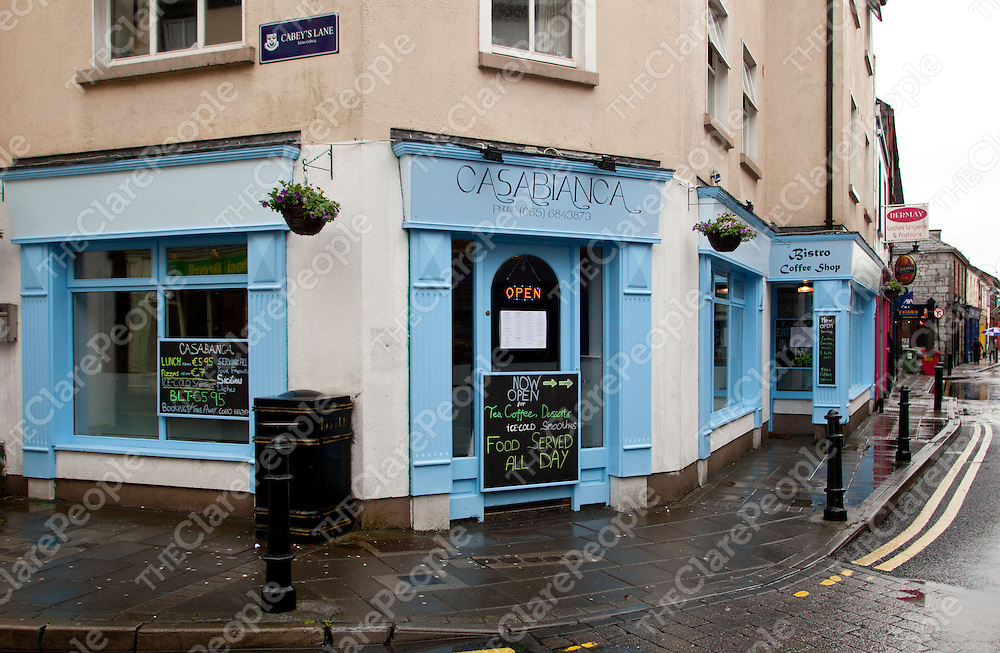 07.06.12<br /> Casablanca Bistro Coffee Shop, Ennis<br /> . Picture: Alan Place/Press 22.