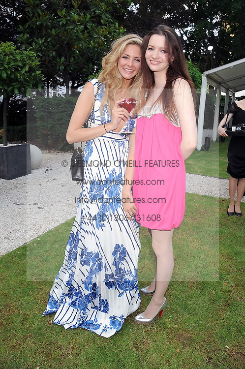 Left to right, TAMSIN EGERTON and TALULAH RILEY at the Tatler Summer Party, The Hempel Hotel, 31-35 Craven Hill Gardens, London W2 on 25th June 2008.<br />