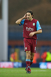 BLACKBURN, ENGLAND - Sunday, November 21, 2010: Aston Villa's Robert Pires makes his debut during the Premiership match against Blackburn Rovers at Ewood Park. (Photo by David Rawcliffe/Propaganda)