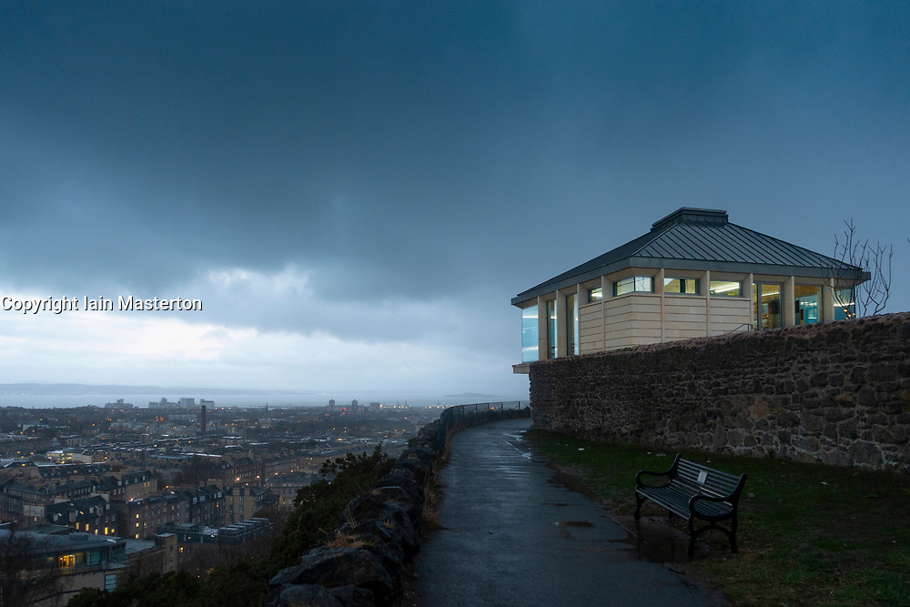 Edinburgh, Scotland, UK. 20 November, 2018. The historic City Observatory on Calton Hill will reopen as The Collective, an arts development organisation and will feature the restored City Observatory, City Dome, and a purpose-built exhibition space as well as The Lookout (pictured) , a new restaurant. It opens to the public on 24 November, 2018.