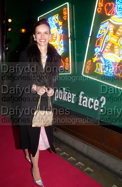 Bettina von Hase. Selfridges Las Vegas dinner hosted by  hon Galen , Hillary Weston and Allanah Weston. Selfridges Oxford St. 20 April 2005. ONE TIME USE ONLY - DO NOT ARCHIVE  © Copyright Photograph by Dafydd Jones 66 Stockwell Park Rd. London SW9 0DA Tel 020 7733 0108 www.dafjones.com