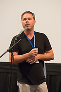 "Bellmore, New York, USA. 19th July 2017. Director BRAD KUHLMAN speaks duirng Q&A at the Long Island International Film Expo LIIFE 2017.  Immediately before that was the screening of ""Where Have You Gone, Lou DiMaggio?"" the documentary feature he directed about comedian DiMaggio contemplating a comeback after being away from the stage for 20 years."