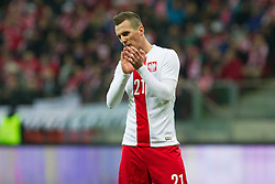 05.03.2014, Kazimierz Gorski Stadium, Warschau, POL, Testspiel, Polen vs Schottland, im Bild ARKADIUSZ MILIK FOTO KATARZYNA // ARKADIUSZ MILIK FOTO KATARZYNA during the International Friendly match between Poland and Scotland at the Kazimierz Gorski Stadium in Warschau, Poland on 2014/03/05. EXPA Pictures © 2014, PhotoCredit: EXPA/ Newspix/ KATARZYNA PLEWCZYNSKA/CYFRASPORT<br /> <br /> *****ATTENTION - for AUT, SLO, CRO, SRB, BIH, MAZ, TUR, SUI, SWE only*****