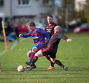 - Hawkhill (black) v Ambassador (red and blue) in the Dundee Saturday Morning Football at Fairmuir, Dundee. Photo: David Young<br /> <br />  - © David Young - www.davidyoungphoto.co.uk - email: davidyoungphoto@gmail.com