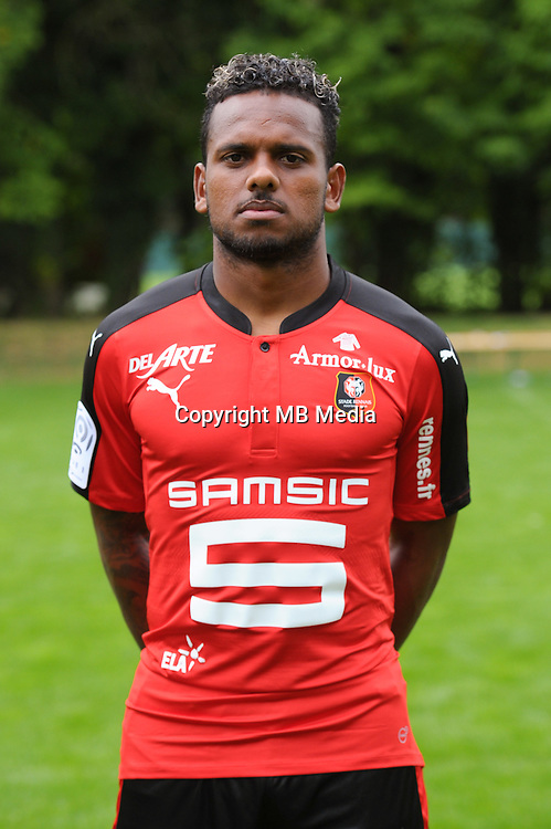 Kermit Erasmus of Rennes during the presentation of the Stade Rennais Team on September 12, 2016 in Rennes, France. (Photo by Andre Ferreira/Icon Sport)