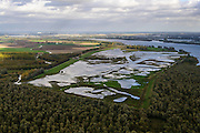 Nederland, Zuid-Holland, Dordrecht, 23-10-2013; Dordtse Biesbosch, Polder Tongplaat. In het kader van het programma Deltanatuur is de polder ontpolderd en vormt nu een natuurgebied (zoetwatergetijdennatuur).<br /> As part of the program Delta nature this polder Tongplaat  has been depoldered and is now  a freshwater tidal reserve.<br /> luchtfoto (toeslag op standard tarieven);<br /> aerial photo (additional fee required);<br /> copyright foto/photo Siebe Swart