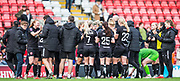 Bristol City FC team celebrating after their 0-1 win during the FA Women's Super League match between Manchester United Women and Bristol City Women at Leigh Sports Village, Leigh, United Kingdom on 5 January 2020.