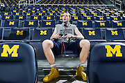 ANN ARBOR, MI - FEBRUARY 5: Nik Stauskas #11 of the Michigan Wolverines gets ready before the game against the Ohio State Buckeyes at Crisler Center in Ann Arbor, Michigan on February 5. Michigan won 76-74. (Photo by Joe Robbins)