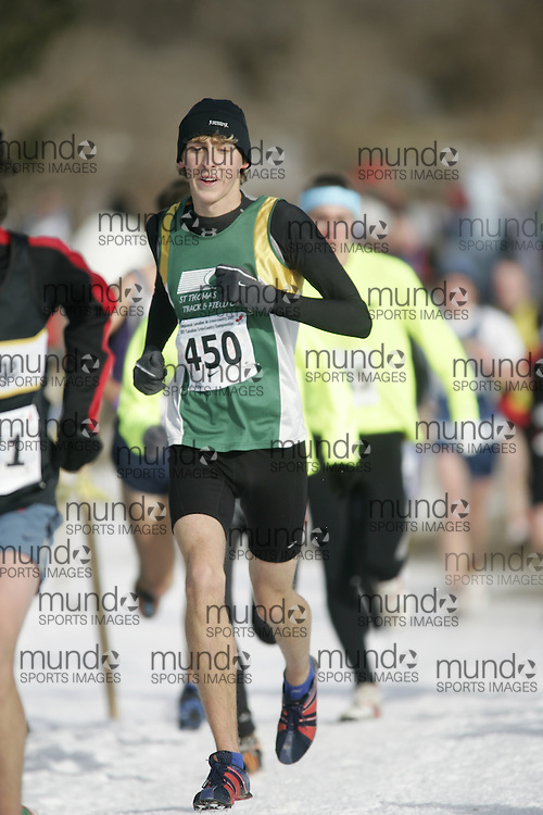 Guelph, Ontario ---01/12/07--- runs at the Canadian Cross Country Championships in Guelph, Ontario, December 1, 2007..photo by GEOFF ROBINS