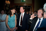 SAMANTHA AND DAVID CAMERON AND PETER MCKAY, The Spectator 180th Anniversary party, at the Churchill Hotel, London, 7 May 2008.  *** Local Caption *** -DO NOT ARCHIVE-© Copyright Photograph by Dafydd Jones. 248 Clapham Rd. London SW9 0PZ. Tel 0207 820 0771. www.dafjones.com.