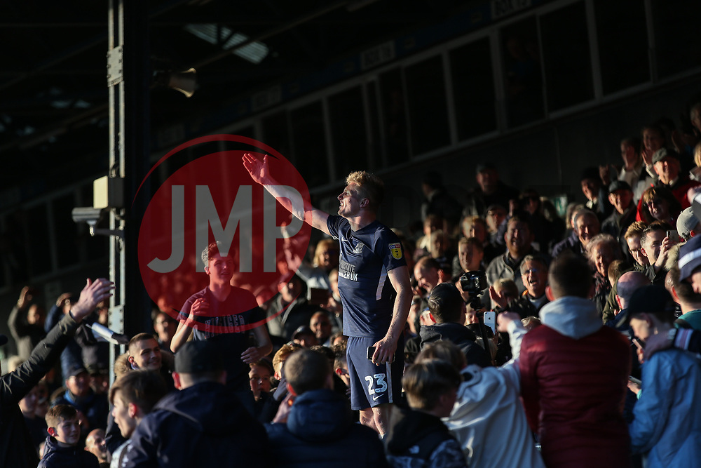 Taylor Moore of Southend United celebrates survival - Mandatory by-line: Arron Gent/JMP - 04/05/2019 - FOOTBALL - Roots Hall - Southend-on-Sea, England - Southend United v Sunderland - Sky Bet League One