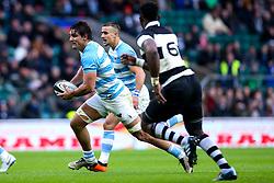 Pablo Matera of Argentina goes past Siya Kolisi of Barbarians - Mandatory by-line: Robbie Stephenson/JMP - 01/12/2018 - RUGBY - Twickenham Stadium - London, England - Barbarians v Argentina - Killick Cup