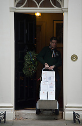 © London News Pictures. 12/12/2012. London, UK.   Wine - Trolley number three of five containing alcoholic drinks and glasses being delivered to 11 Downing Street by Majestic wines on December 12, 2012. Photo credit: Ben Cawthra/LNP