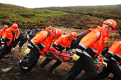 It was a busy Reek Sunday for the Mountain Rescue Teams as they attended to injured pilgrims...Pic Conor McKeown