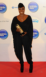 Mercury Prize. <br /> LAURA MVULA attends the Barclaycard Mercury Prize at The Roundhouse, London, United Kingdom. Wednesday, 30th October 2013. Picture by i-Images