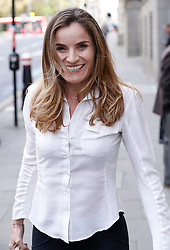 © Licensed to London News Pictures. 11/04/2017. London, UK. ORLANDA BUTLAND , Gordon Ramsay's sister-in-law, arrives at the Old Bailey - where she and three of her family members are accused of hacking the celebrity chef's computer. Photo credit: Peter Macdiarmid/LNP