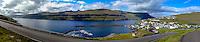 Faroe Islands. Eidi village on Eysturoy.