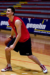 Marko Pajic at practice of KK Slovan basketball team, on February 3, 2010 in Arena Kodeljevo, Ljubljana, Slovenia.  (Photo by Vid Ponikvar / Sportida)