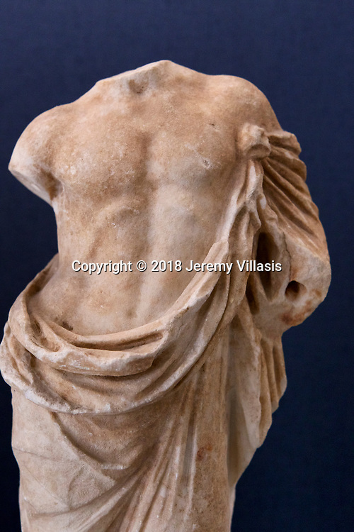 Marble torso of a statuette of Asklepios (late Hellenistic Period).