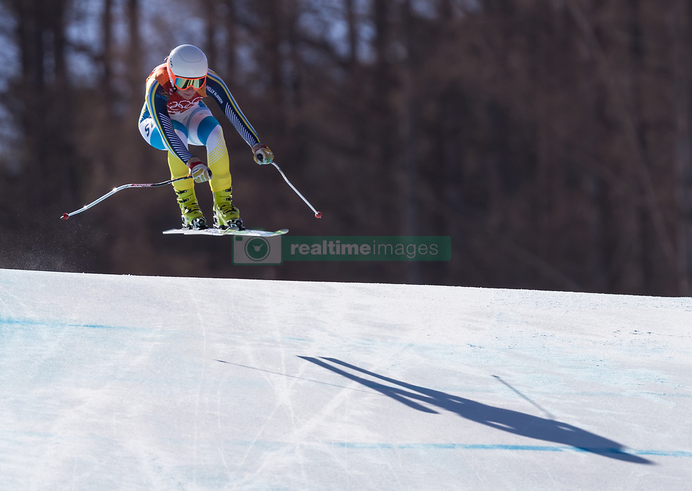 February 17, 2018 - PyeongChang, South Korea - LISA HOERNBLAD of Sweden during Alpine Skiing: Ladies Super-G at Jeongseon Alpine Centre at the 2018 Pyeongchang Winter Olympic Games. (Credit Image: © Patrice Lapointe via ZUMA Wire)