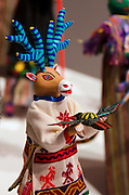 """Sculptures from Laura Anderson Barbata's exhibit, """"Transcomunalidad - Intervenciones y colaboraciones con comunidades de zanqueros"""" Transcomunalidad (translated as """"interventions and collaborations with communities of stiltwalkers."""" Museo Textil de Oaxaca."""