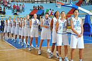 DESCRIZIONE : Cagliari Qualificazioni Campionati Europei Italia Croazia <br /> GIOCATORE : Team Italia<br /> SQUADRA : Nazionale Italia Donne <br /> EVENTO :  Qualificazioni Campionati Europei Nazionale Italiana Femminile <br /> GARA : Italia Croazia<br /> DATA : 02/08/2010 <br /> CATEGORIA : Inno Nazionale<br /> SPORT : Pallacanestro <br /> AUTORE : Agenzia Ciamillo-Castoria/M.Gregolin<br /> Galleria : Fip Nazionali 2010 <br /> Fotonotizia : Cagliari Qualificazioni Campionati Europei Italia Croazia<br /> Predefinita :
