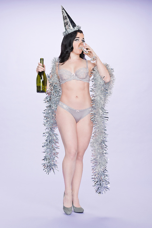 A burlesque/pin-up inspired new  years eve concept.