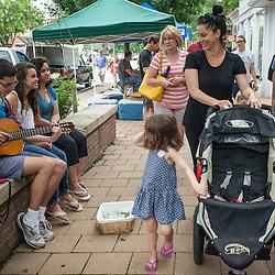 Farmer's market in Worthington, Ohio on High Street Saturday June 21, 2014. (Christina Paolucci, photographer).