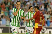 Kadir celebs his goal during the match between Real Betis and Recreativo de Huelva day 10 of the spanish Adelante League 2014-2015 014-2015 played at the Benito Villamarin stadium of Seville. (PHOTO: CARLOS BOUZA / BOUZA PRESS / ALTER PHOTOS)