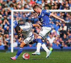 Everton's James McCarthy tackles Eden Hazard of Chelsea   - Mandatory byline: Matt McNulty/JMP - 07966386802 - 12/09/2015 - FOOTBALL - Goodison Park -Everton,England - Everton v Chelsea - Barclays Premier League