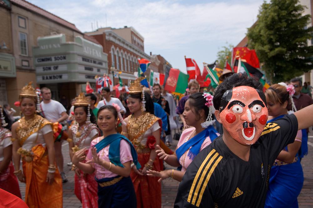 18897The International Street Fair  May 17th, 2008...  Pirun Peach leads