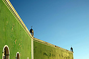 The Mosque stands on the West side of the island for the islands traditional Muslim population..Ilha De Mocambique (Mozambique Island), Northern Mozambique, Africa.© Demelza Cloke