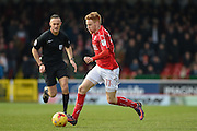 Swindon Town Defender, James Brophy (11) during the EFL Sky Bet League 1 match between Swindon Town and Oxford United at the County Ground, Swindon, England on 5 February 2017. Photo by Adam Rivers.